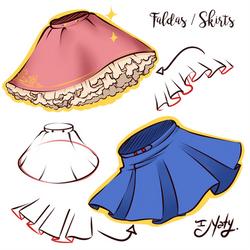 Hot to Draw Skirts - Faldas by Naty-Ilustrada