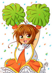 Card Captor Sakura Cheeleader by Naty-Ilustrada