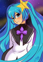 Miku Meteorite by Naty-Ilustrada