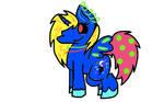 Princess Neon Kawaii Polka Dot Lightning Moon by pastel-suqar