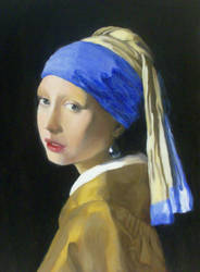 A Girl with a Pearl Earring by monoceros01