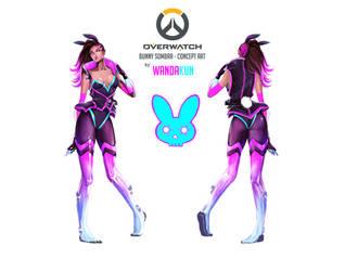 Cyber-bunny Sombra by WANDAKUN