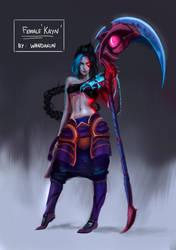 Female Kayn by WANDAKUN