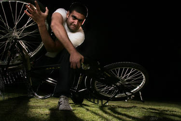 the cyclist...in charge by Makroum