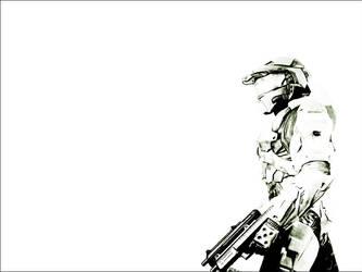 White Master Chief Remastered by b3h1ndu