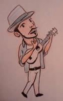 Neil playing ukulele by tedbergeron