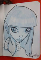 Elf sketch by tedbergeron