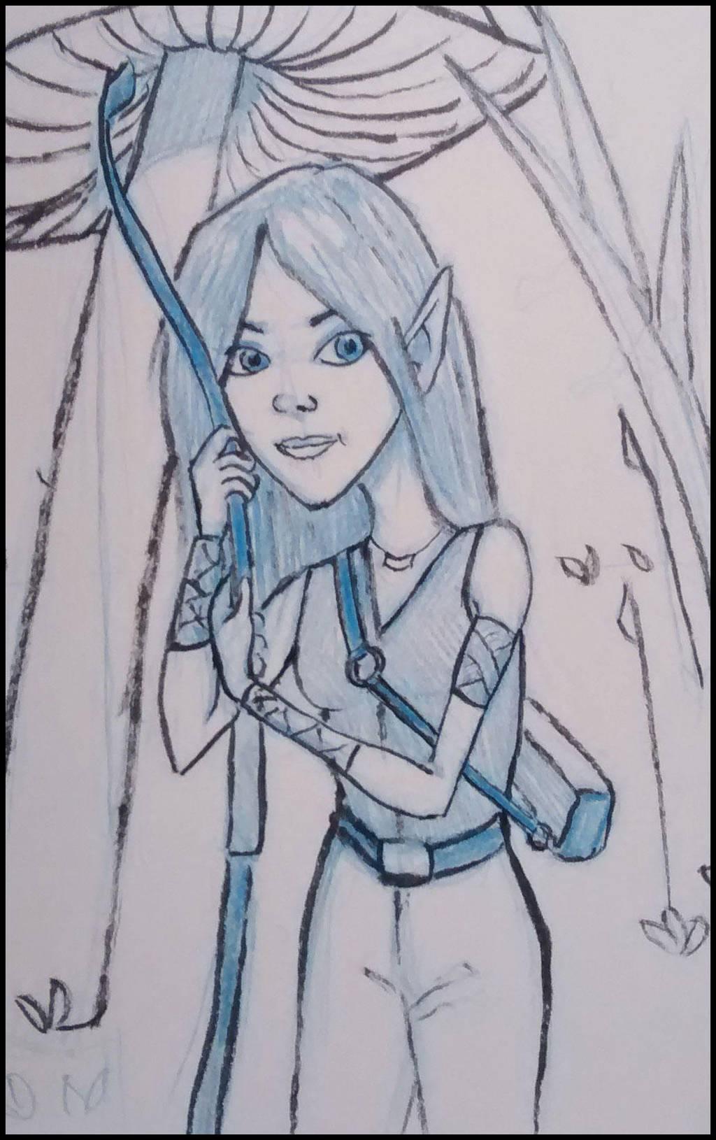 Elven archer by tedbergeron