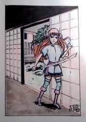 Anime ninja by tedbergeron