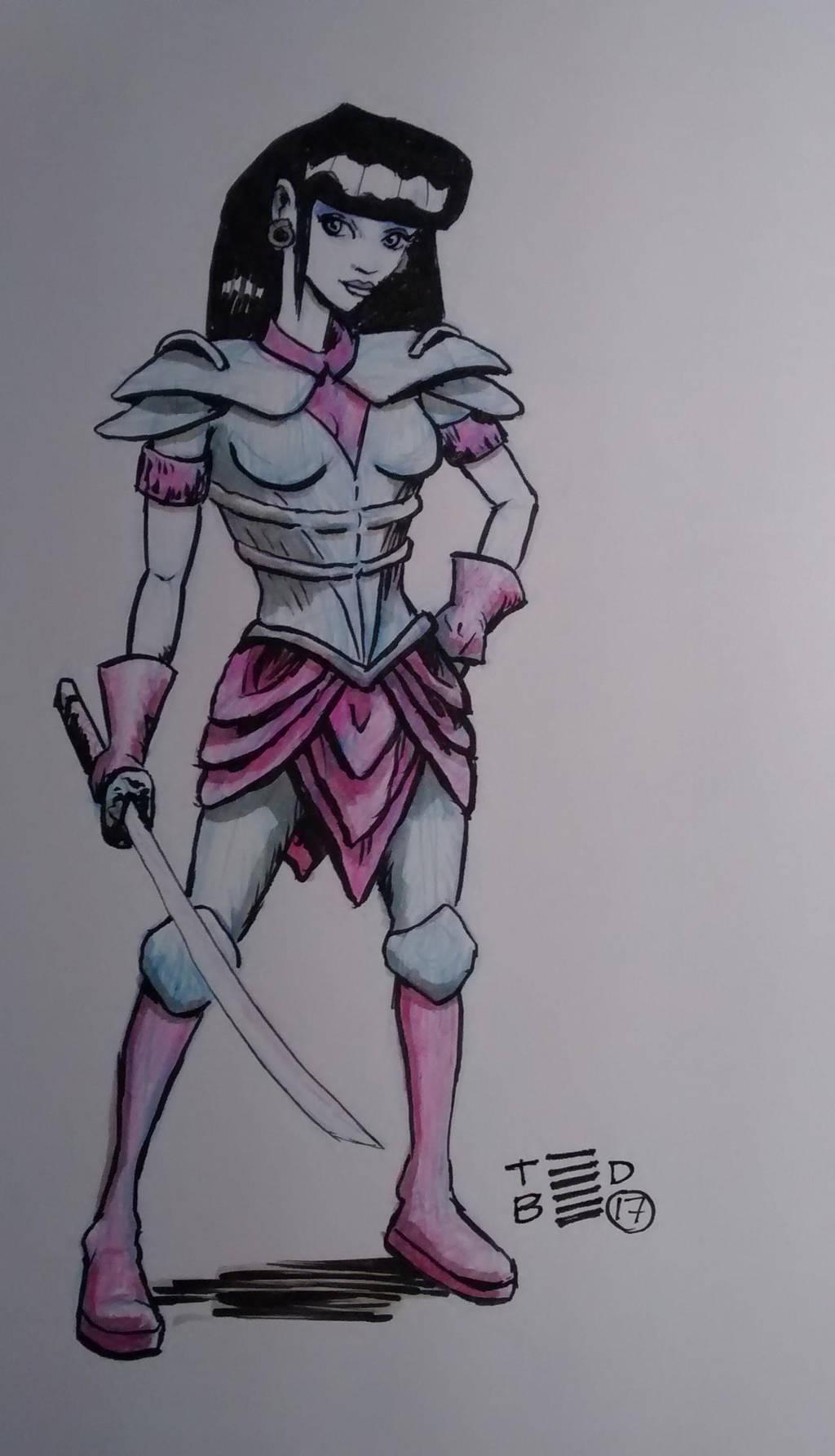 Warrior Woman by tedbergeron