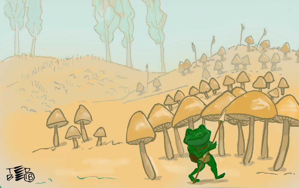 Teeny Tiny Toad enjoying the day by tedbergeron