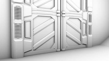 Sci-Fi Door Bottom Detail by GladiusM