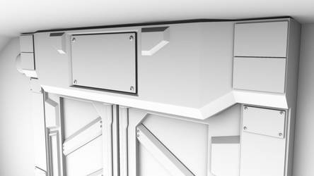 Sci-Fi Door Top Detail by GladiusM