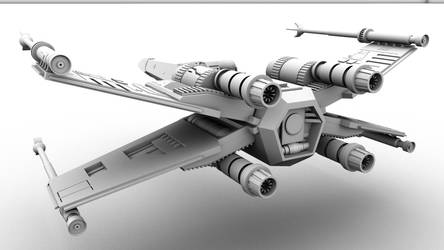 X - Wing 3D  Back View by GladiusM