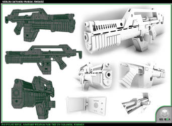 Pulse Gun 3D Layout by GladiusM