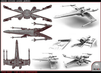 X - Wing 3D Layout by GladiusM