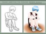 Sketch to Finish - Kuroko by AtomicBrownie