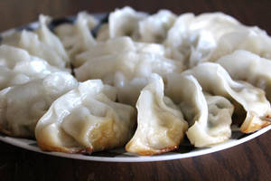Plate of Potstickers by AtomicBrownie