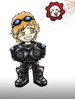 Gears of War Chibi me by CousticHippy
