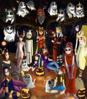 Digimon Halloween by MangoRamune