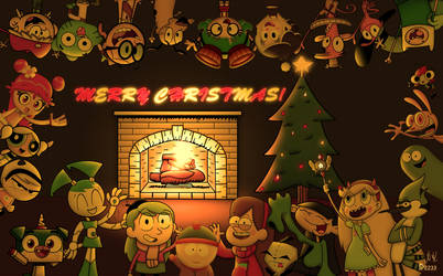 A Toon Christmas: Many shows (Collab w/SP2233) by NickTheIrkenArtist