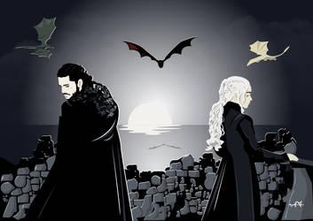 Daenerys and Jon by FeydRautha81