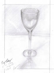Clear Wine Glass Still Life by pyro-pyscho