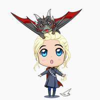 mother of dragons daenerys chibi by mangjose27