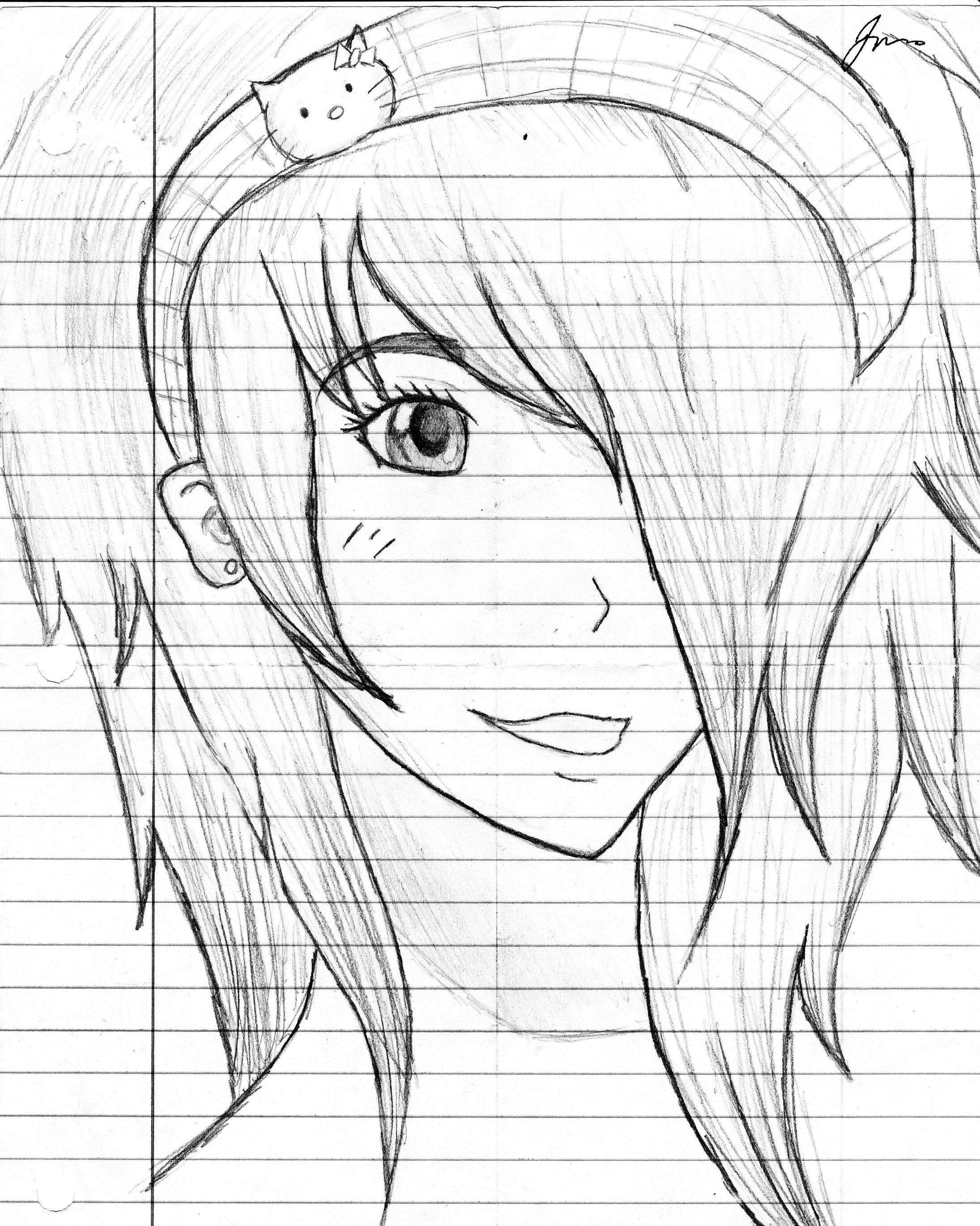 Anime pencil sketch by kasparkova anime pencil sketch by kasparkova