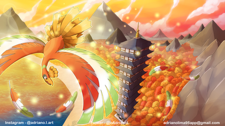 Ho-oh Wallpaper - COMMISSION by AdrianoL-Drawings