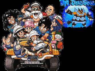 Dragon Ball Z Gang Render by LordRender