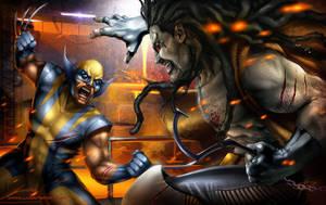 Lobo vs Wolverine by Aioras