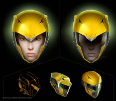 Yellow Ranger - redesing helmet by Aioras