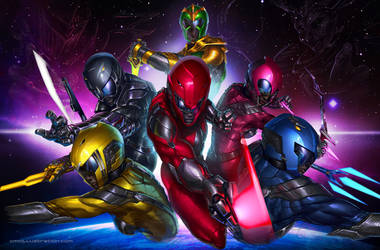 Power Rangers Neon by Aioras