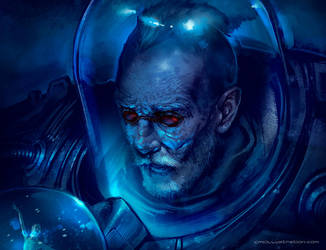 Mr Freeze portrait - cmcillustration by Aioras