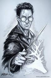 Auror Potter - Inktober Day 10 by Aioras