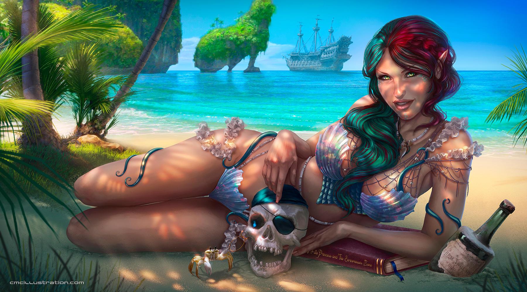 Ariella the cursed mermaid by Aioras