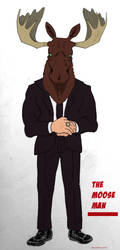 The Moose Man by ElectricDinosaurArt