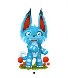 Blue little monster by Rimrus