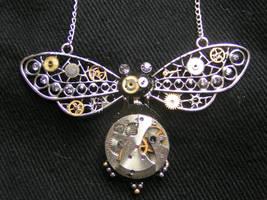 Steampunk Beetle Pendant by lollollol2