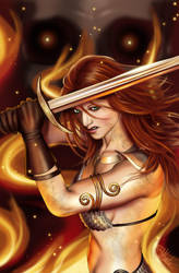 Red Sonja by lilyinblue