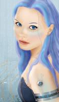 Cyborg in Blue by lilyinblue