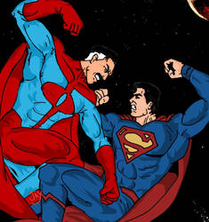 Omni-Man vs Superman by Jasontodd1fan