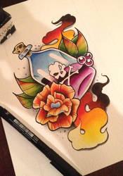 Poison - Tattoo Design by artisticrender