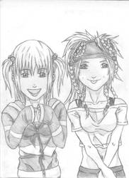 Misa and Rikku by THEGODSLAYER91