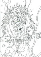 goku inked by THEGODSLAYER91