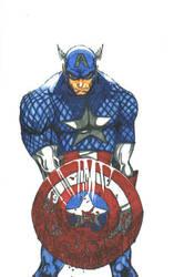 captain america blood by THEGODSLAYER91