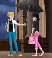 Umbrella Scene by SimpaticasX2