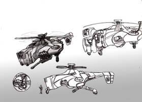 Kumo Ranged Support Gunship by ModalMechanica