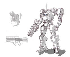 Rough Mecha Concept by ModalMechanica